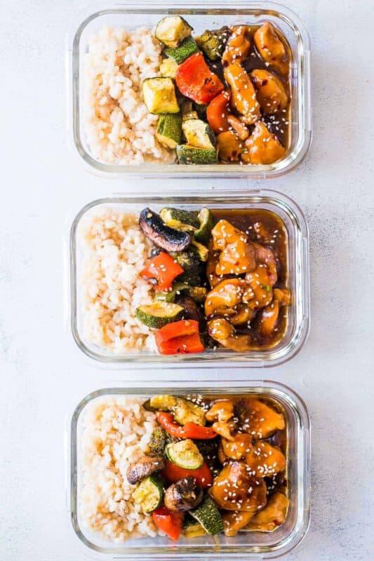 teriyaki chicken stir fry meal prep ideas