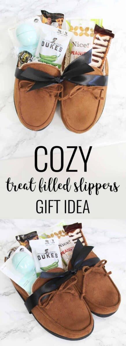 Slippers gift basket for men