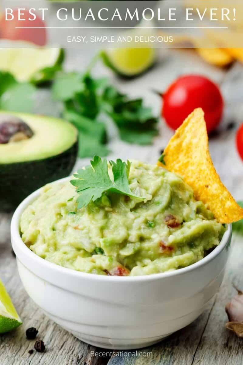 guacamole easy Cinco de mayo recipe.