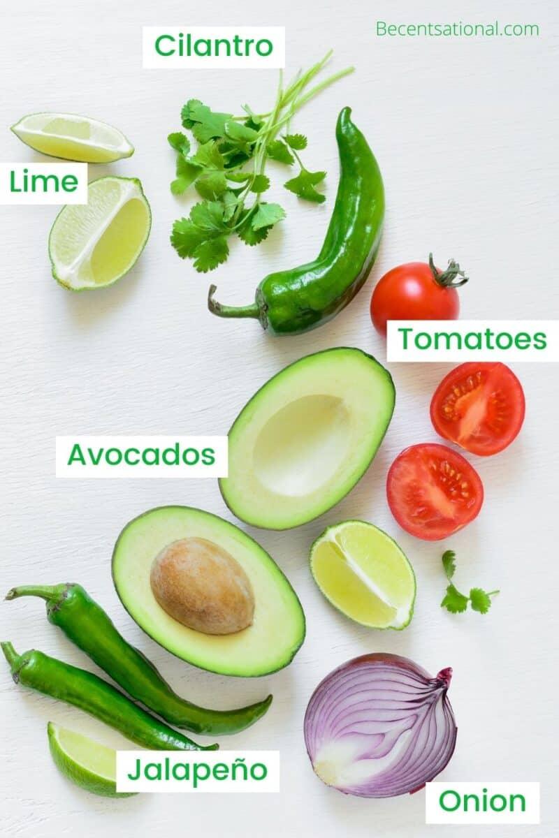 Best Guacamole Ever ingredients