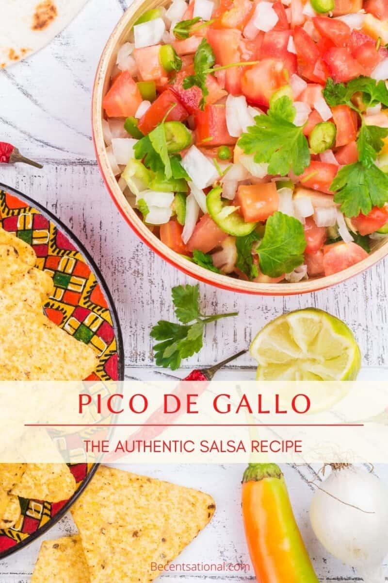 authentic and simple pico de gallo