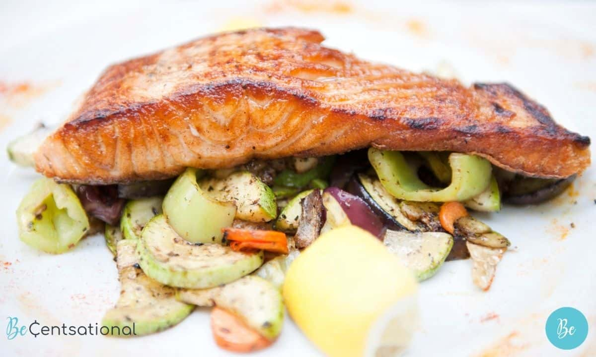 Baked Salmon with Vegetables easy healthy meals