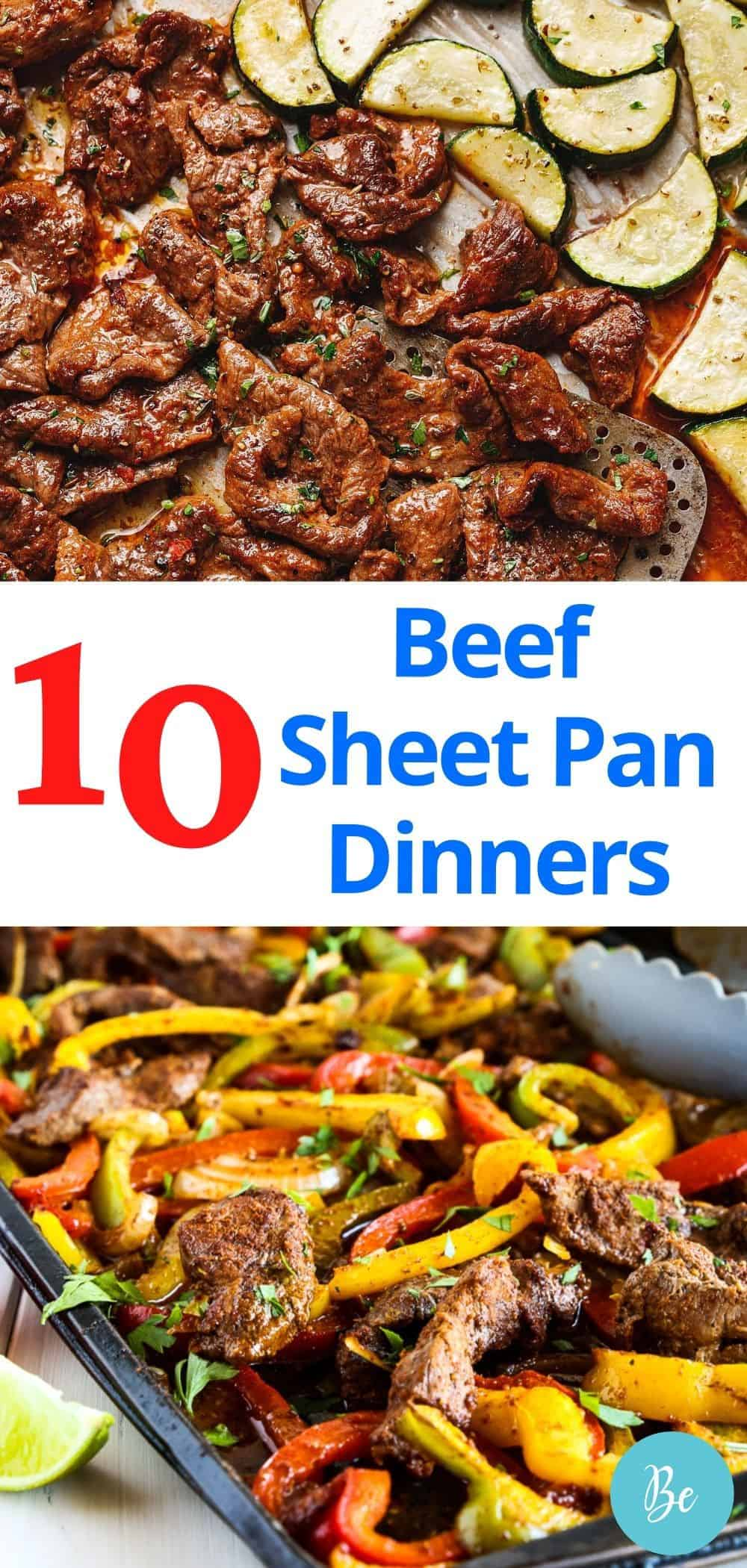 Pin with beef sheet pan meals