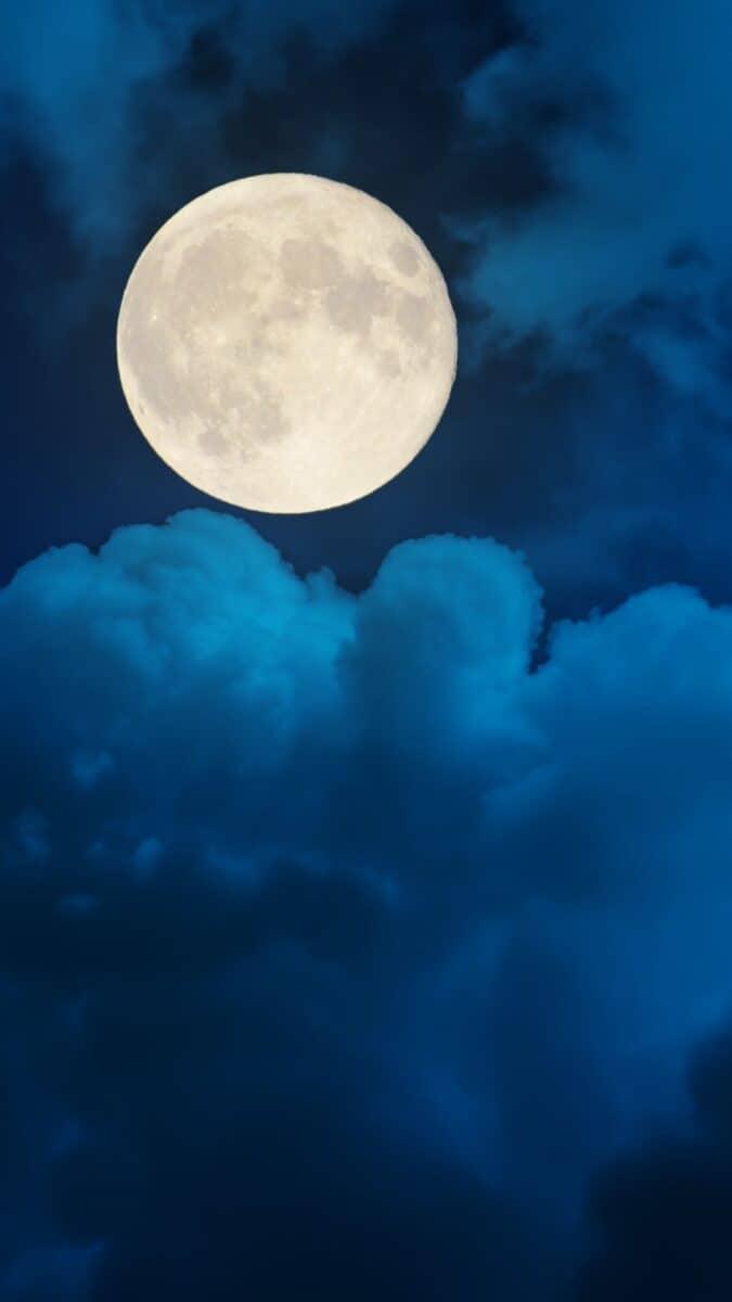 Cloud iPhone Wallpaper | Cloud aesthetic wallpaper, wallpaper aesthetic backgrounds, iPhone wallpaper. full moon cloud sky