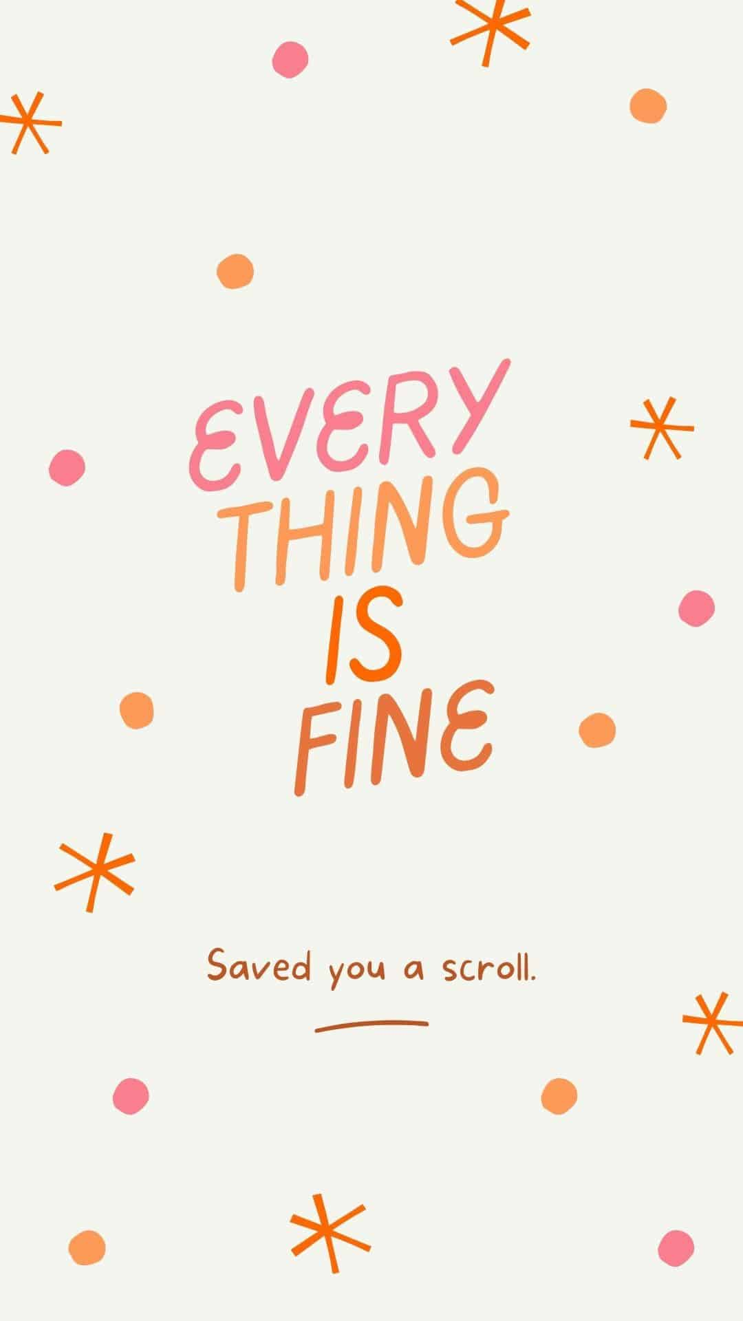 Cute Wallpapers for Girls, everything is fine with cream background