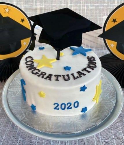 Star Graduation Cake