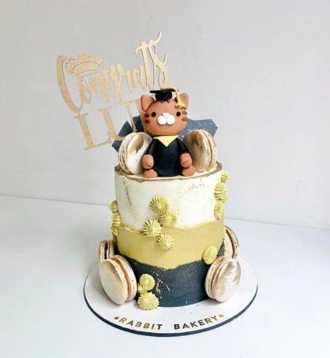 Cute Bear Congrats Cake