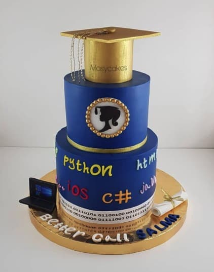 Developer Cake with Gold Cap