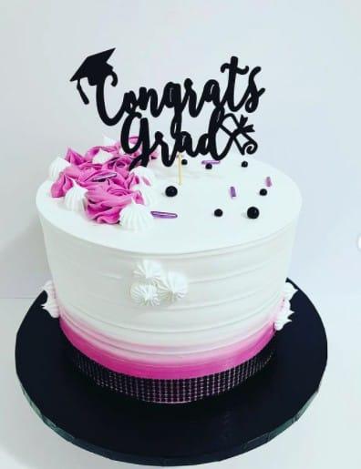 Fun Pink and Black Cake