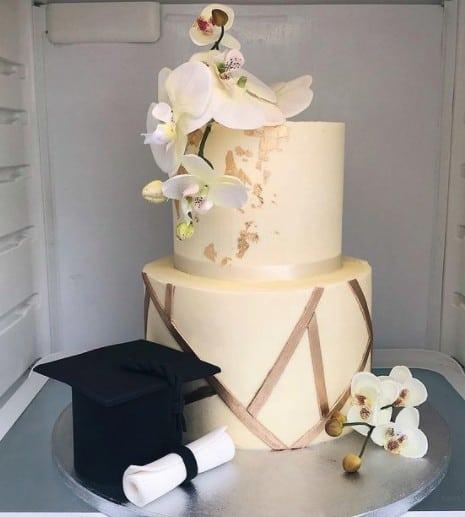 Orchids Graduation Cake