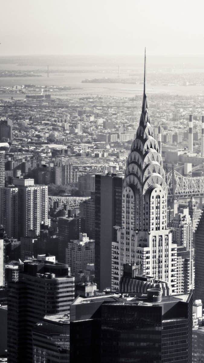 Black White chrysler building NYC iPhone Wallpapers