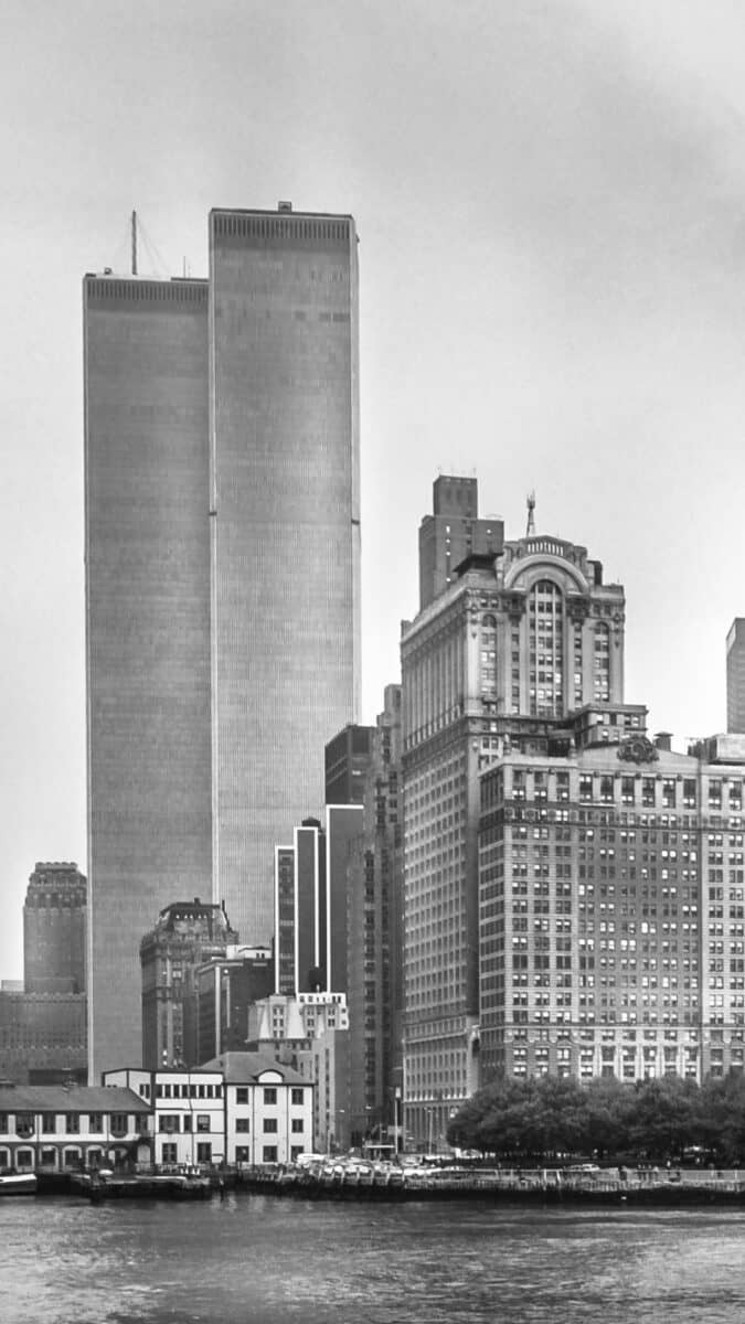 Black White NYC World trade center iPhone Wallpapers