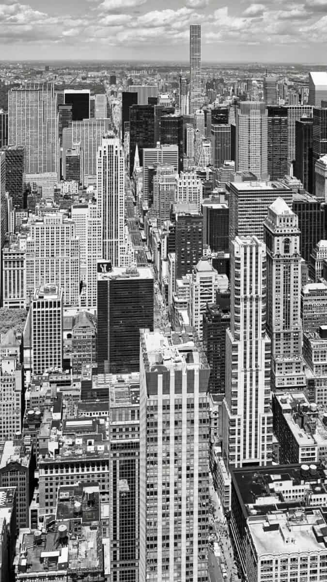 Black White NYC skyline iPhone Wallpapers