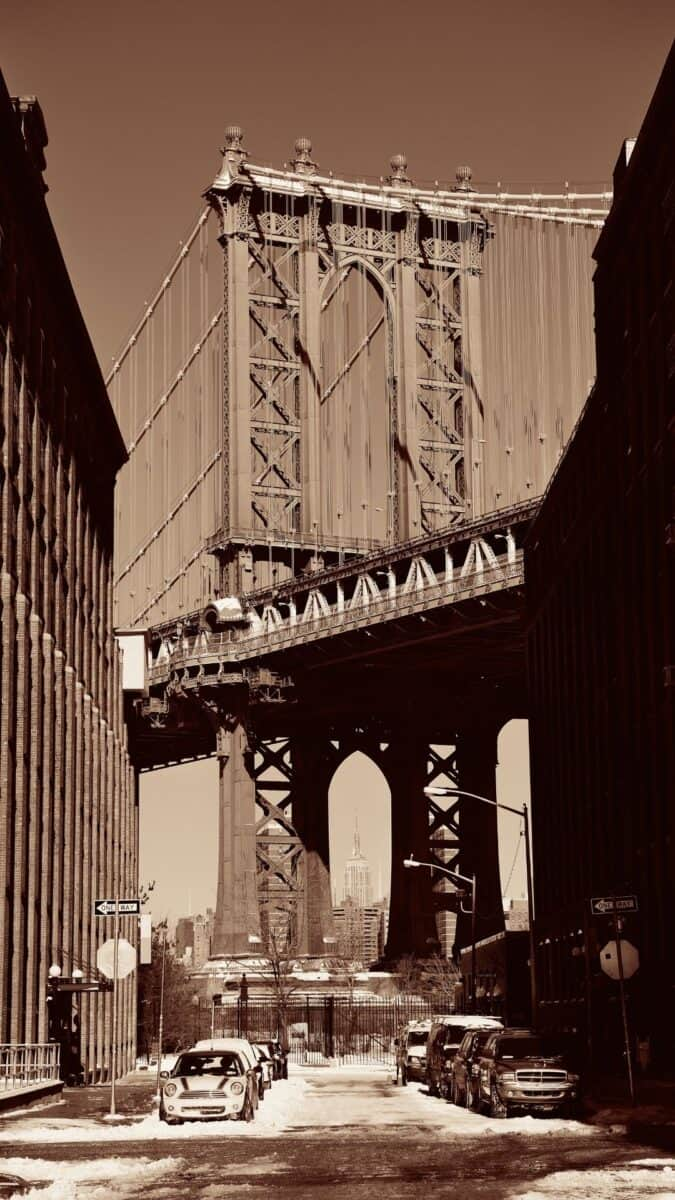 Black White NYC George Washington iPhone Wallpapers