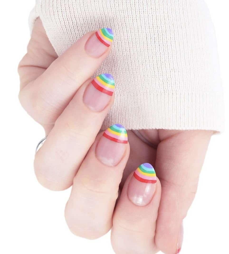 Rainbow nails, rainbow nails acrylic