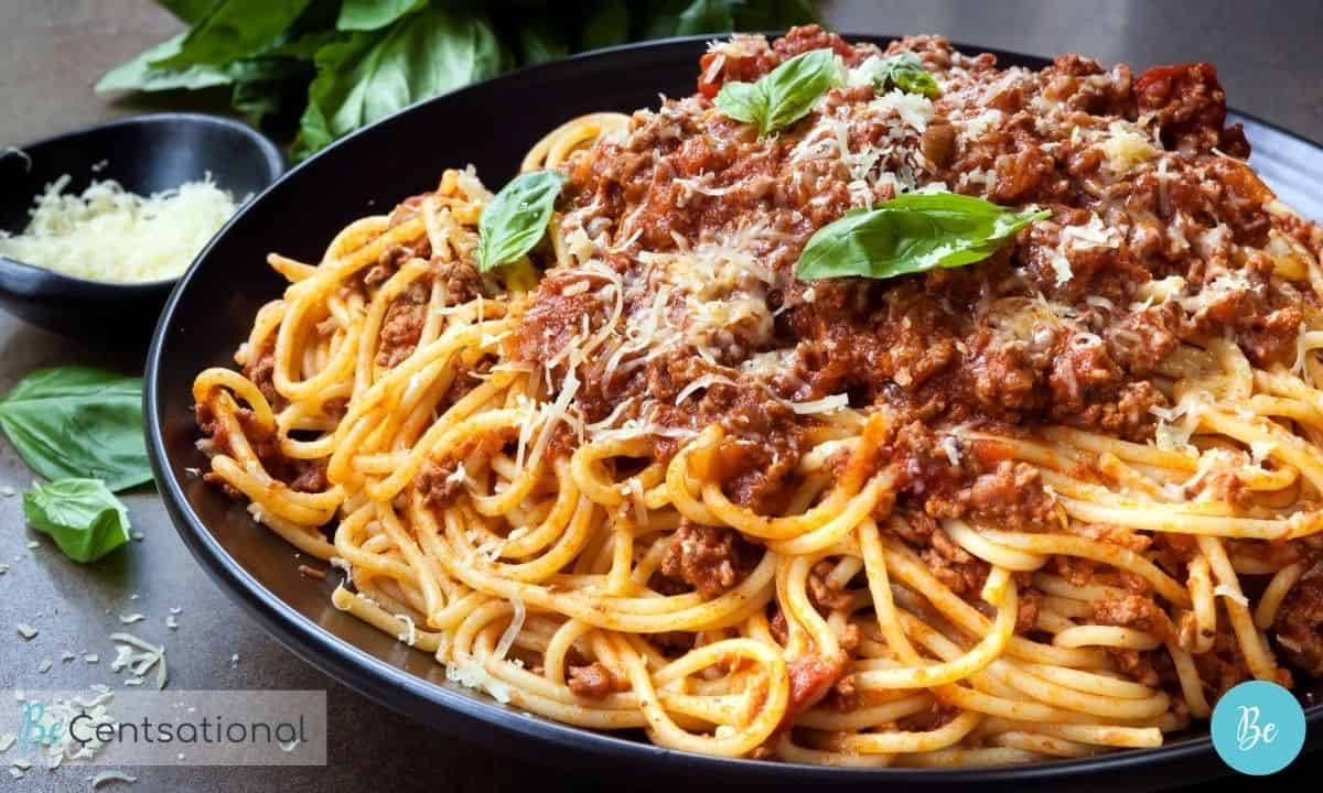 easy healthy meals pasta bolognese