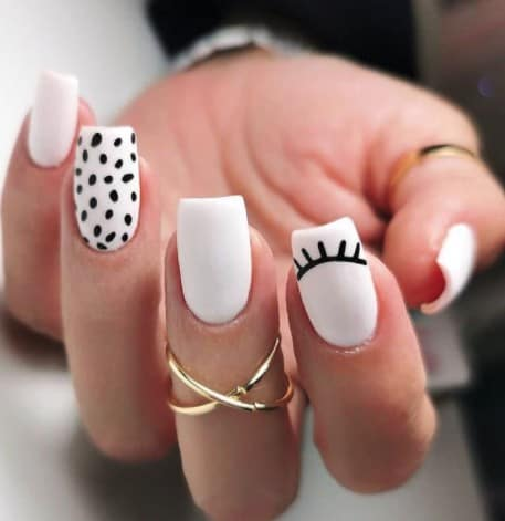Fun Black and White Nail Design