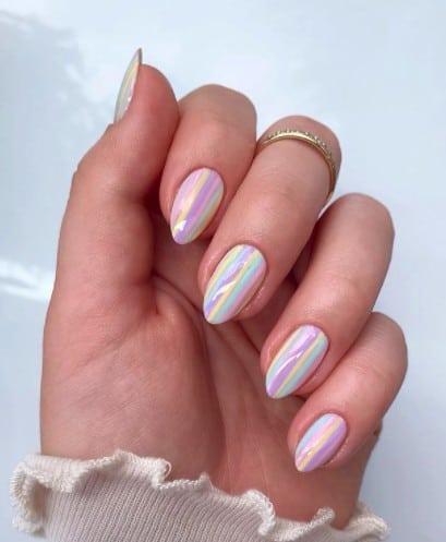 Summer rainbow Nail designs