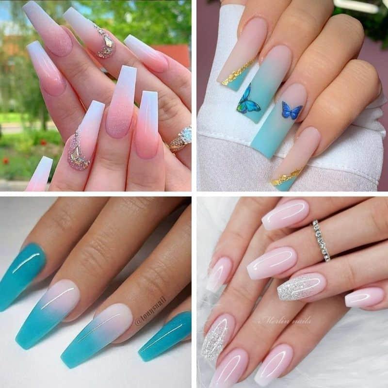 Summer Ombre Nails, summer nail designs