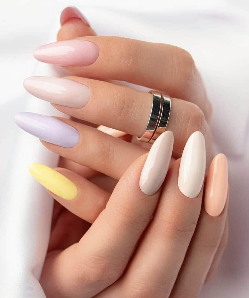 Summer Rainbow Nails, rainbow nail designs