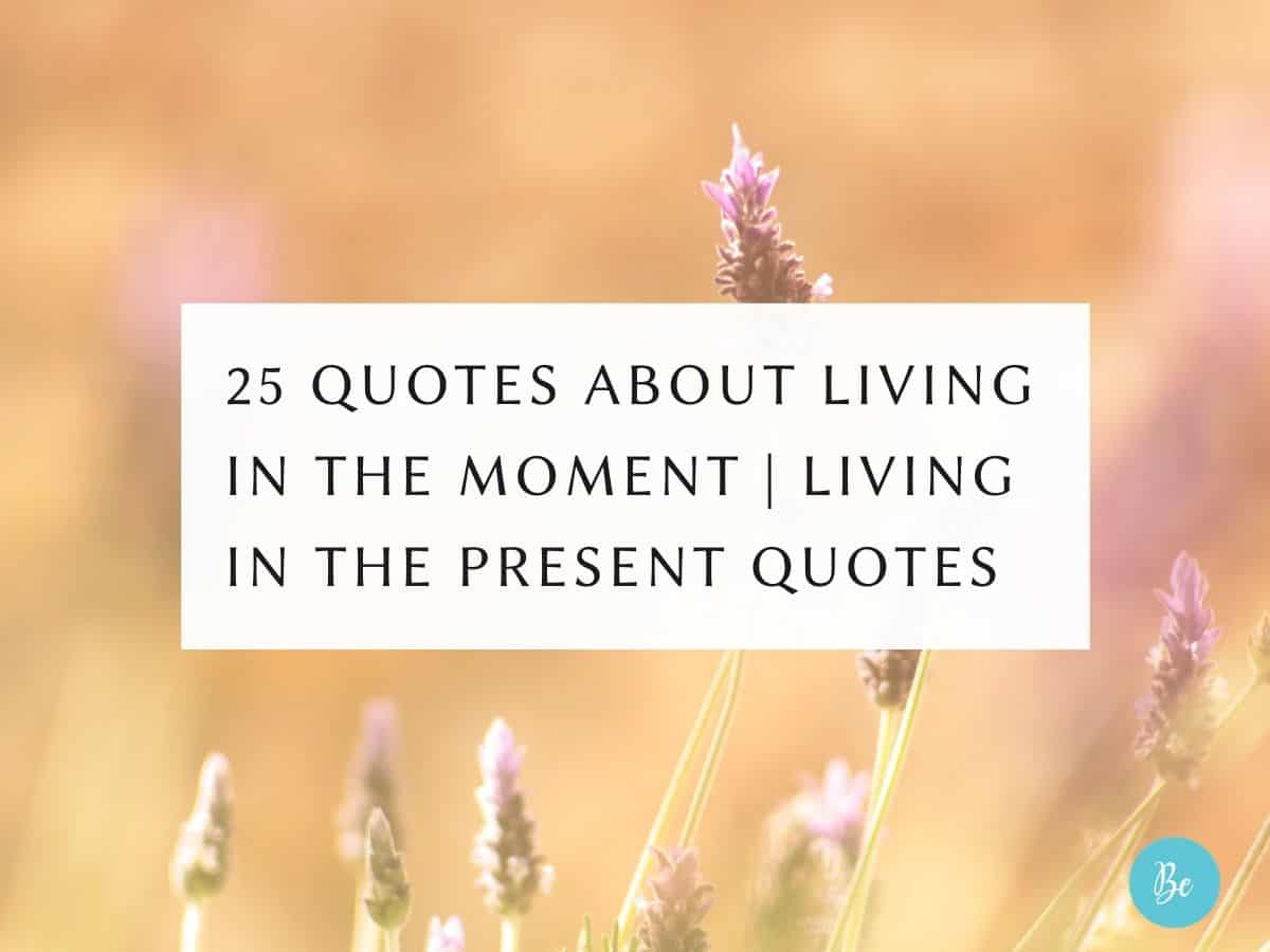 Quotes About Living in The Moment   Living in The Present Quotes