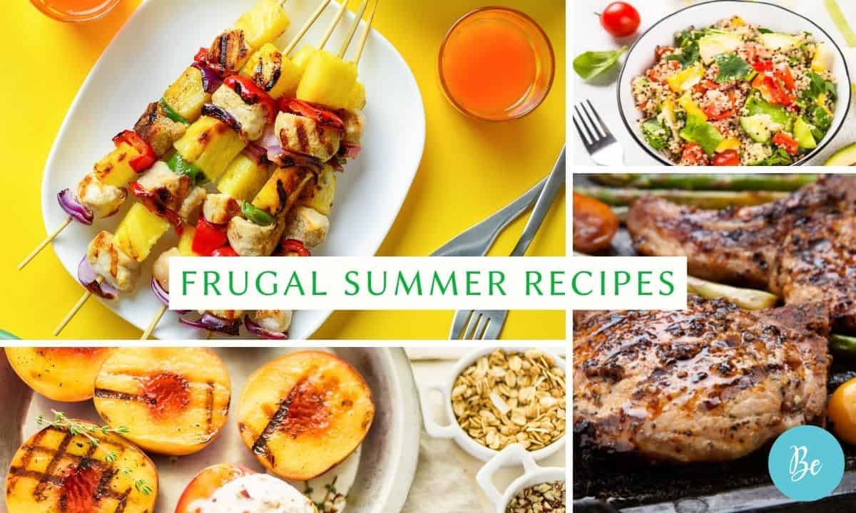 cheap summer recipes collage