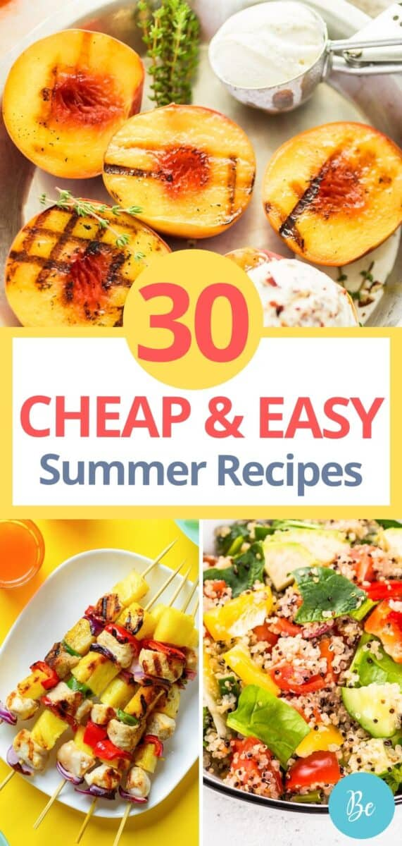 easy and cheap summer meals