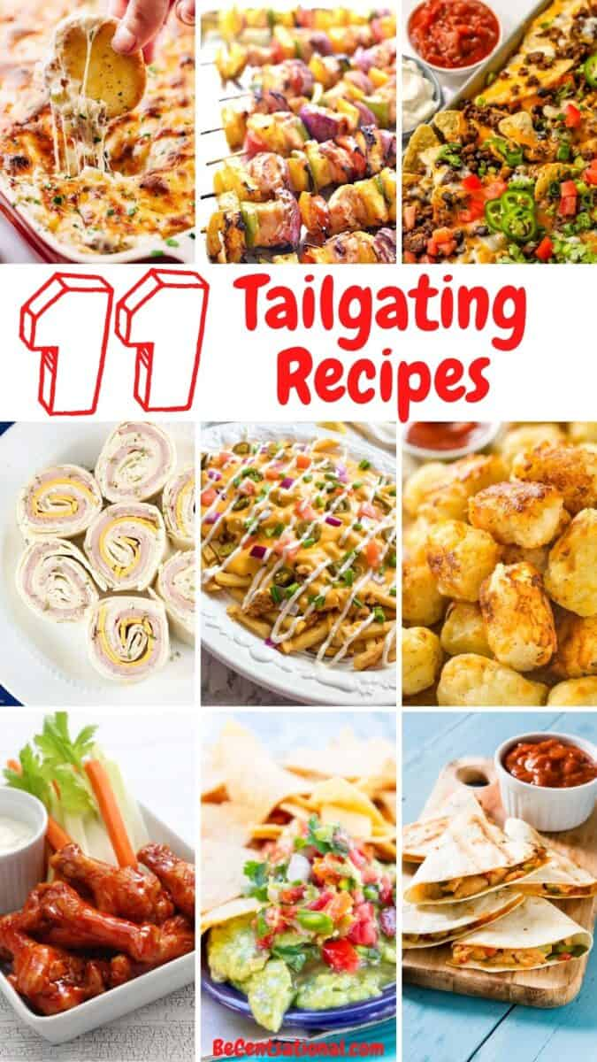Tailgating Recipes: 11 Best Game Day Recipes. The best tailgating recipes you'll need. Game day recipes for your football party. You'll love these easy tailgate food ideas and football snacks.