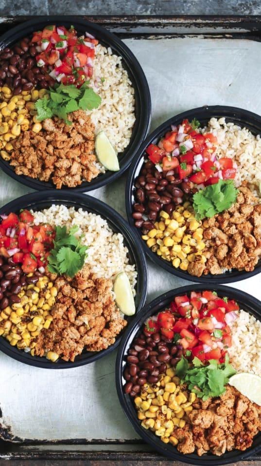 Chicken burrito meal prep ideas