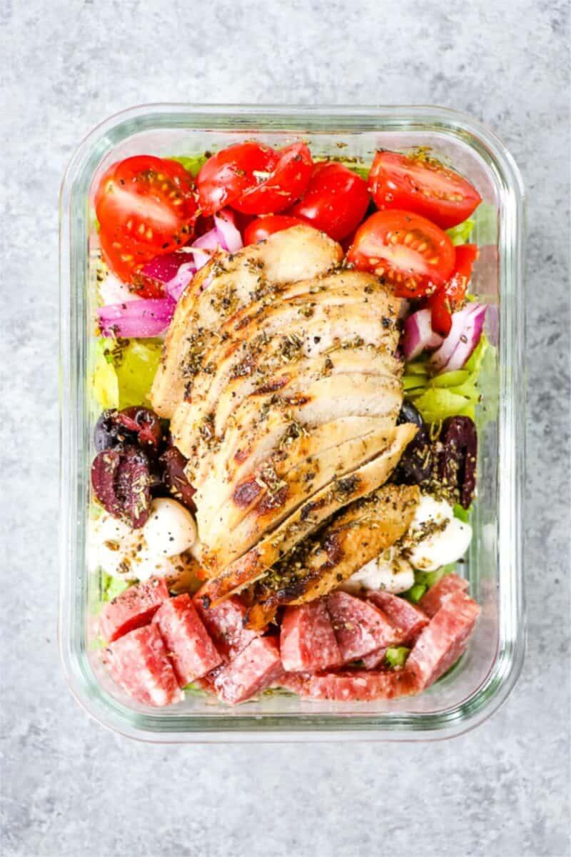 Italian Chicken Salad Meal Prep