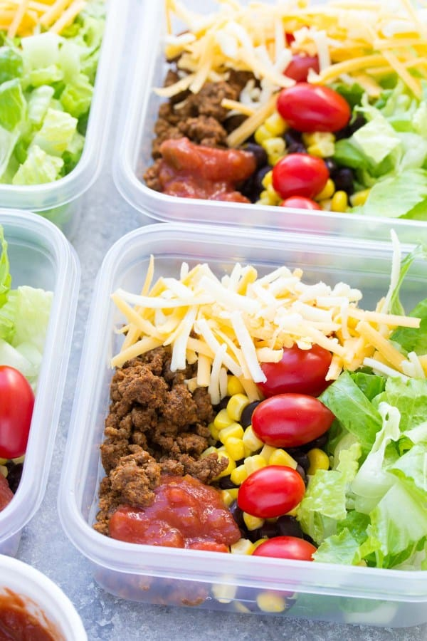 taco salad meal prepping