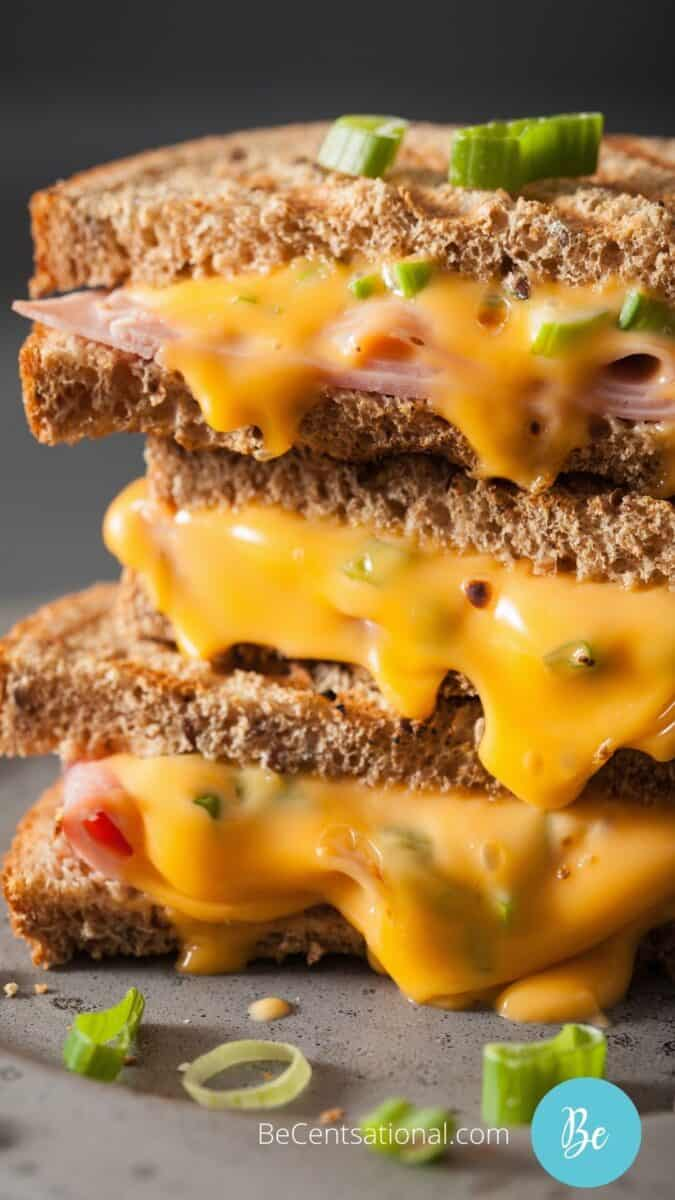 home-made Grilled ham and cheese