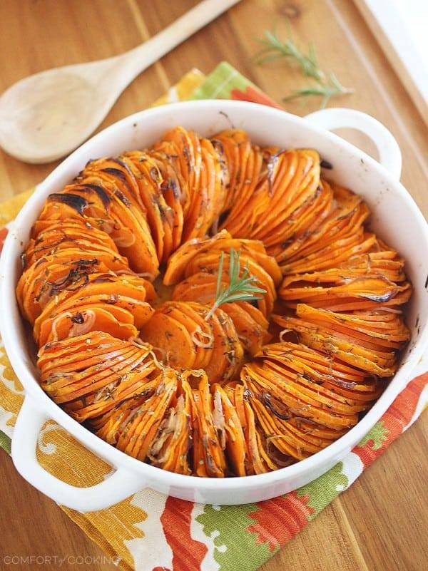 Sweet potato thanksgiving side dishes Crispy Roasted Rosemary Sweet Potato