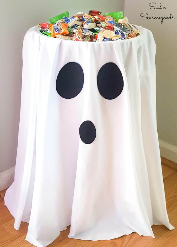 Halloween ghost candy holder
