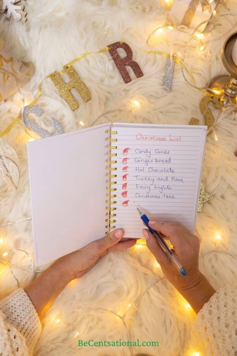 Christmas list for a debt free christmas