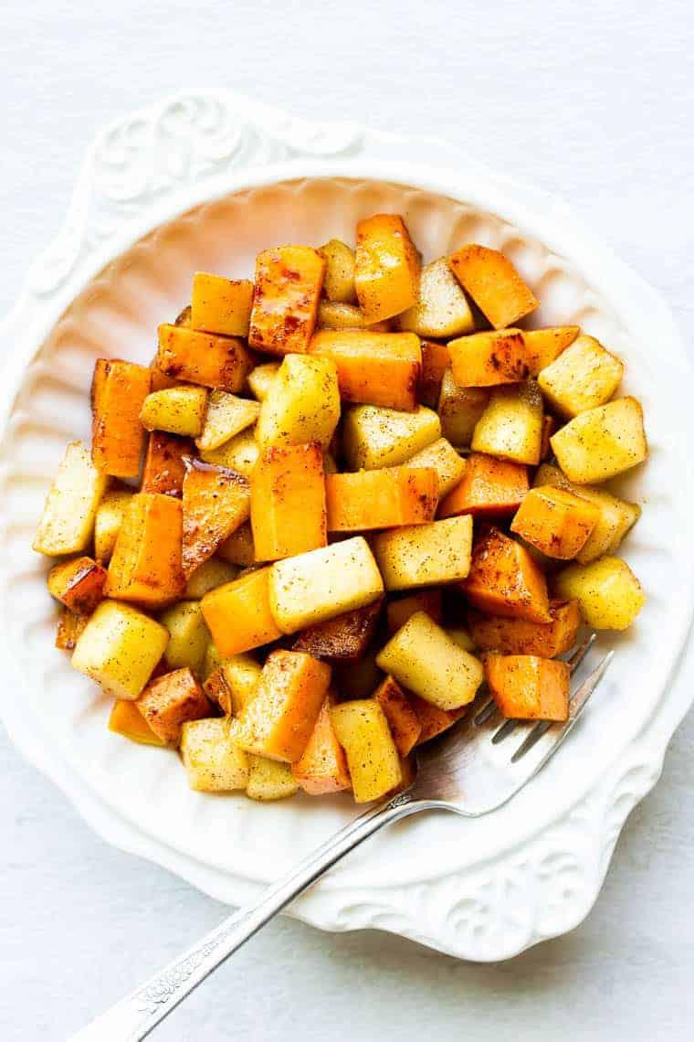 Sweet Potatoes and Apples Maple Cinnamon