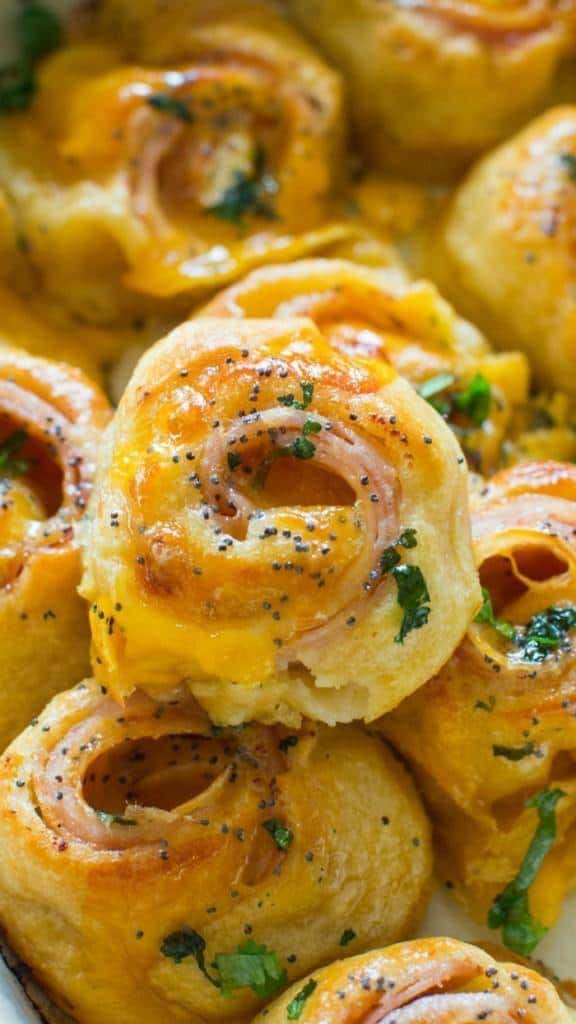 Turkey cheese rolls easy thanksgiving appetizers
