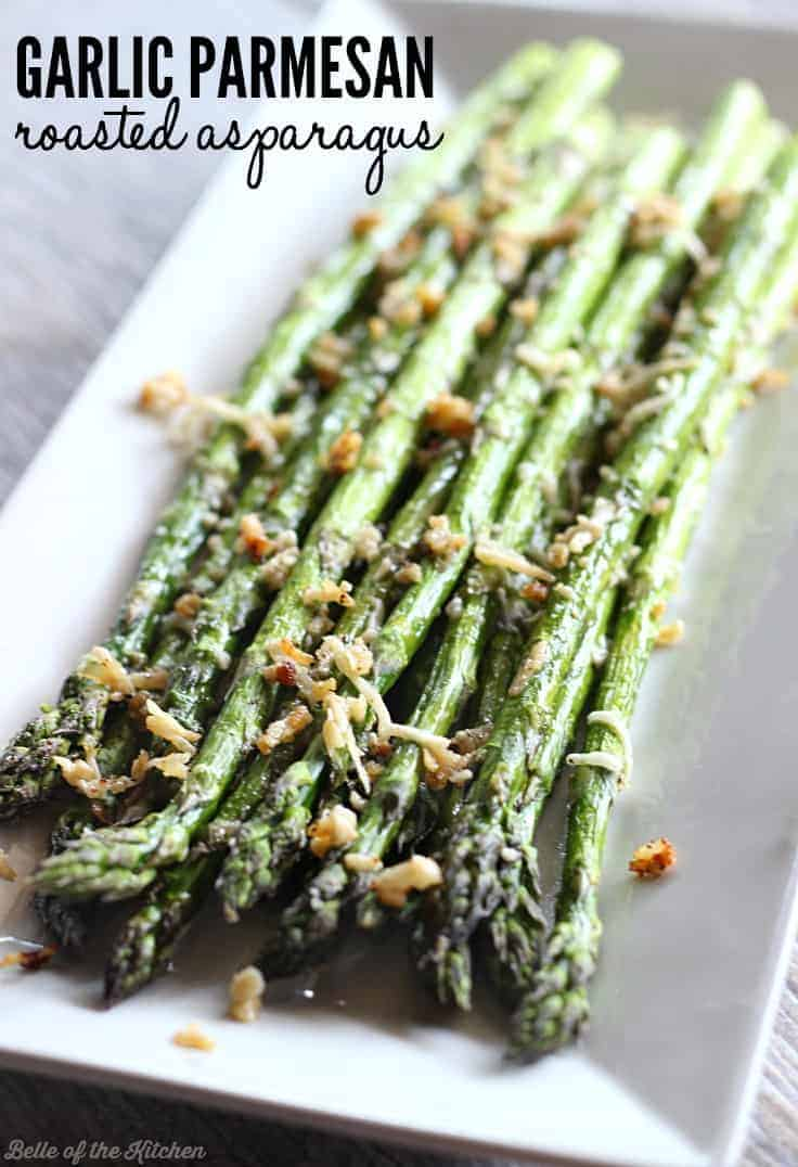 Thanksgiving side dishes garlic parmesan roasted asparagus