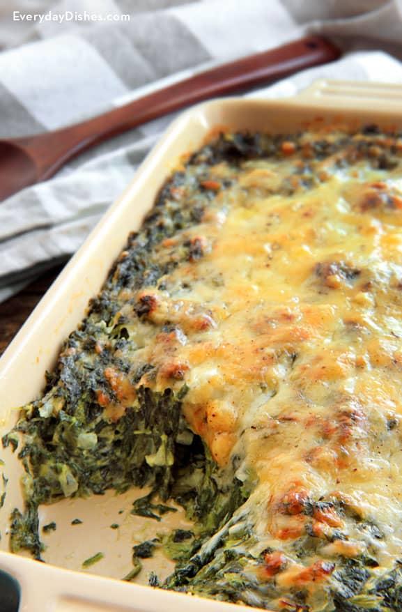 spinach gratin