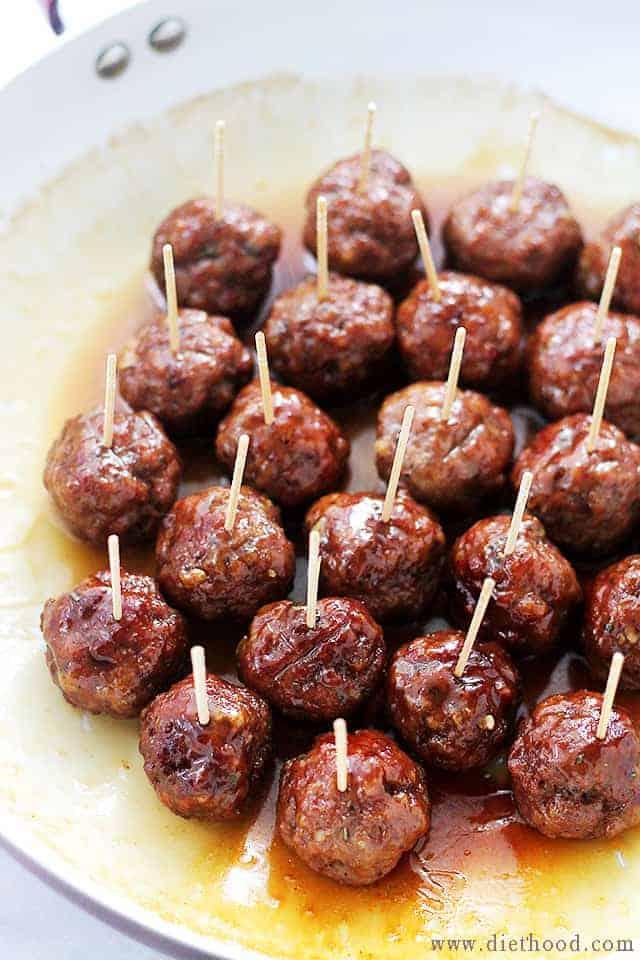 easy appetizer Brown Sugar Meatballs