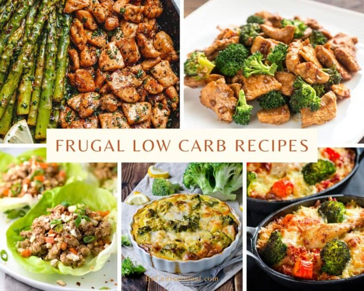 Frugal low carb recipes with chicken broccoli, lettuce chicken wraps, and green bean casserole.
